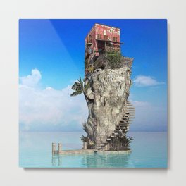 House in the middle of the sea Metal Print