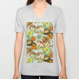 TIGERS IN THE JUNGLE  Unisex V-Neck