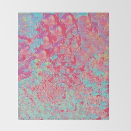 Pink a Blue Abstract Paintng Throw Blanket