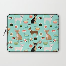 chihuahua sushi dog lover pet gifts cute pure breed chihuahuas multi coat colors Laptop Sleeve