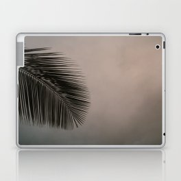 Minimalistic palm leaf silhouette against cloudy and colorful sky Laptop & iPad Skin