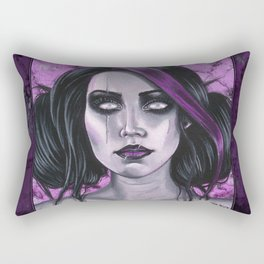 Scars Gothic Ghoul Portrait Rectangular Pillow