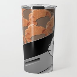 Patience is bitter, but its fruit is croissant Travel Mug
