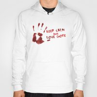 gore Hoodies featuring Love Gore by Victor Rodriguez