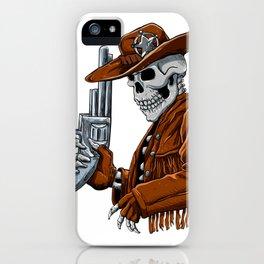 Skull cowboy.Skeleton iPhone Case