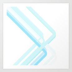 Blue Corners Art Print