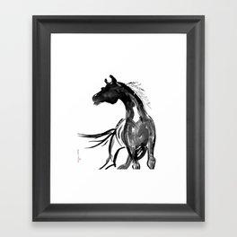 Horse (Ink sketch) Framed Art Print