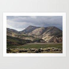Mossy Hills, Iceland Art Print
