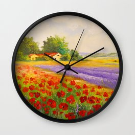 Flowers of Provence Wall Clock