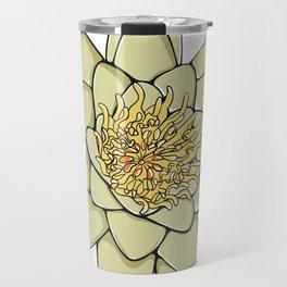 Nenuphar White Water Lily Flower Travel Mug