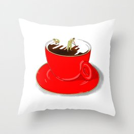 Paint My Coffee Throw Pillow