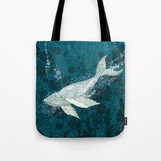 Flying Whale Underwater Tote Bag