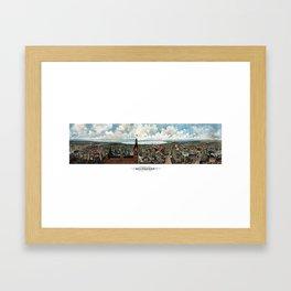 Milwaukee Wisconsin - Vintage Panoramic View Framed Art Print