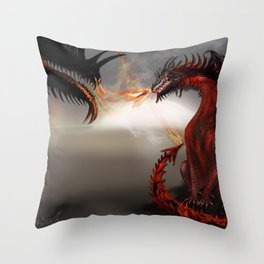 Challengers Challenger Abstract Dragons Throw Pillow