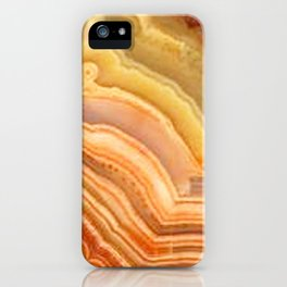 Orange Ripple Mineral Surface iPhone Case