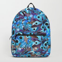 Exactly Where They'd Fall (Floral Pattern) Backpack