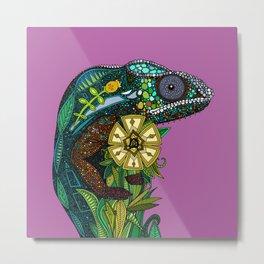 chameleon orchid Metal Print