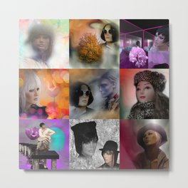 collage fashiondolls -02- Metal Print