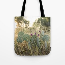 Cactus in Texas Hillcountry Tote Bag