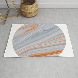 Marble Circle Print Rug