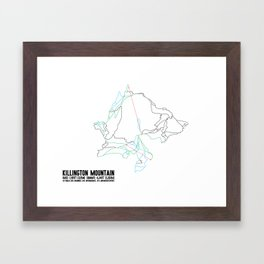 Killington, VT - Minimalist Summer Trail Art Framed Art Print