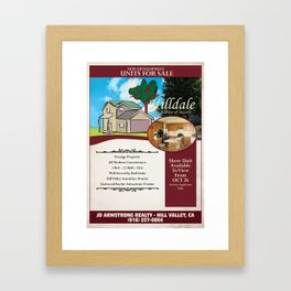 Back to the Future - Hilldale Real Estate Framed Art Print