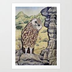Laughing Owl  Art Print
