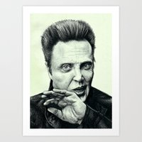 christopher walken Art Prints featuring Christopher Walken by CAROTillustrations