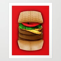 junk food Art Prints featuring Junk Food by Andrea Orlic
