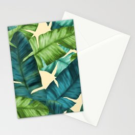 Tropical Banana Leaves Original Pattern Stationery Cards