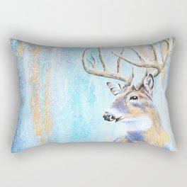 Winter Buck Rectangular Pillow