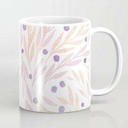 Leaves and Berries #2   Orange and Purple Palette Coffee Mug
