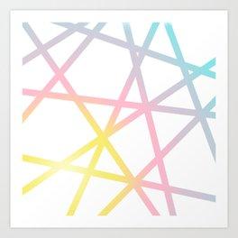 Rainbow x Unicorn Color Art Print
