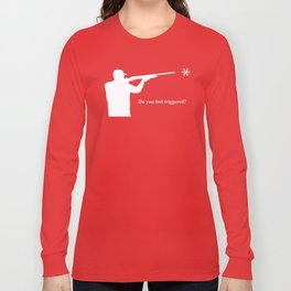 Do you feel triggered? (white) Long Sleeve T-shirt
