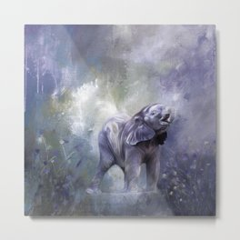 A cute baby elephant Metal Print