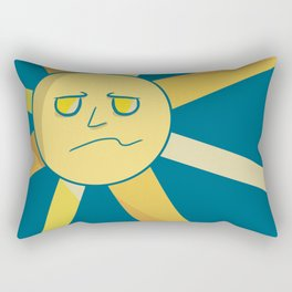 Face of the Sun Rectangular Pillow