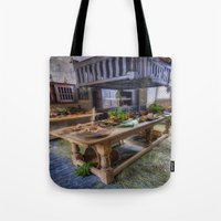 kitchen Tote Bags featuring Olde Kitchen by Ian Mitchell