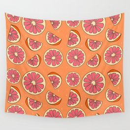 Grapefruit Print Wall Tapestry
