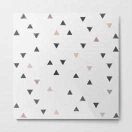 DOWN UP / scandi white / warm grey / flax / lavender Metal Print