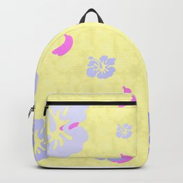 Tropical Pattern Yellow Backpack