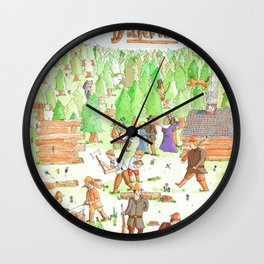 Locals Only- Danville Wall Clock