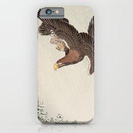 Koson Ohara - Eagle - Japanese Vintage Woodblock Painting iPhone Case