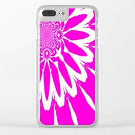 The Modern Flower Fuchsia Pink Clear iPhone Case