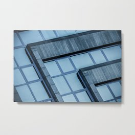 Abstract View of Modern Buildings Metal Print