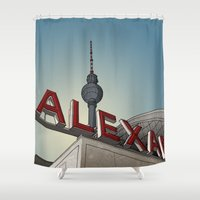 alex turner Shower Curtains featuring Alex by Matthias Rendl