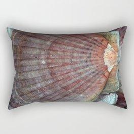 Scallop Shells Macro photography Texture Rectangular Pillow