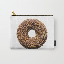 Chocolate and crushed nuts donut Carry-All Pouch