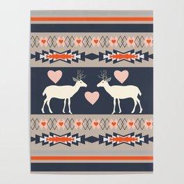 Romantic deer Poster