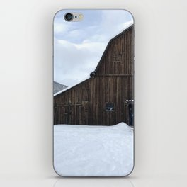 Barn on Christmas Day iPhone Skin