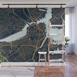 Boston map Wall Mural